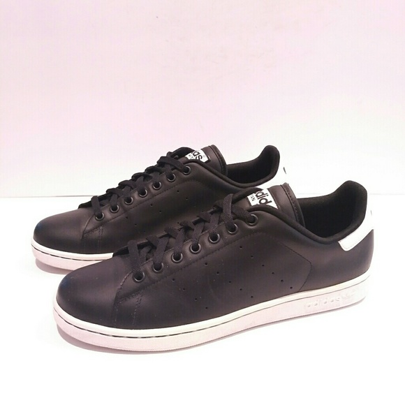 0f0aab398e10d Adidas Stan Smith size 12 black leather sneaker